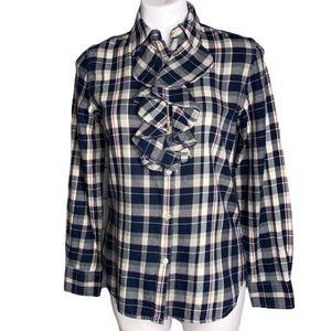 Ralph Lauren Plaid Flannel Button Down Top